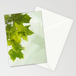 Green leaves frame Stationery Cards