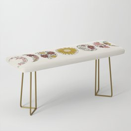 Floral Phases of the Moon Bench