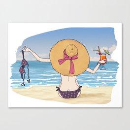 sea sieste and sun Canvas Print