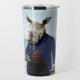 Mr. Rhino's Day at the Beach Travel Mug