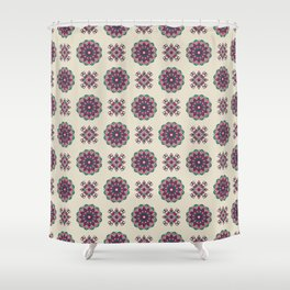 Kinship Summer Geometric Pattern Shower Curtain