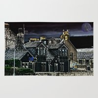 police Area & Throw Rugs featuring Police House by Valerie Paterson