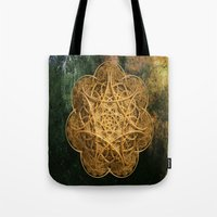 celtic Tote Bags featuring Celtic Gold by Lynn Bolt