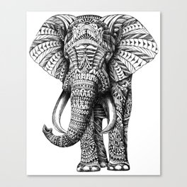 Ornate Elephant Canvas Print