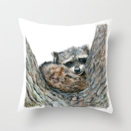 Sleepy Head by Teresa Thompson Throw Pillow