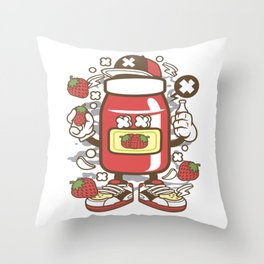 Strawberry Jamfor animated characters comics and pop culture lovers Throw Pillow