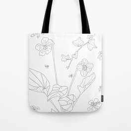 Flora of Friendship - Color or Paint Your Own! Tote Bag