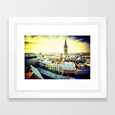 Cityscape of Sibiu, Romania Framed Art Print