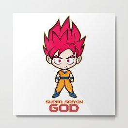 Goku SS God Metal Print