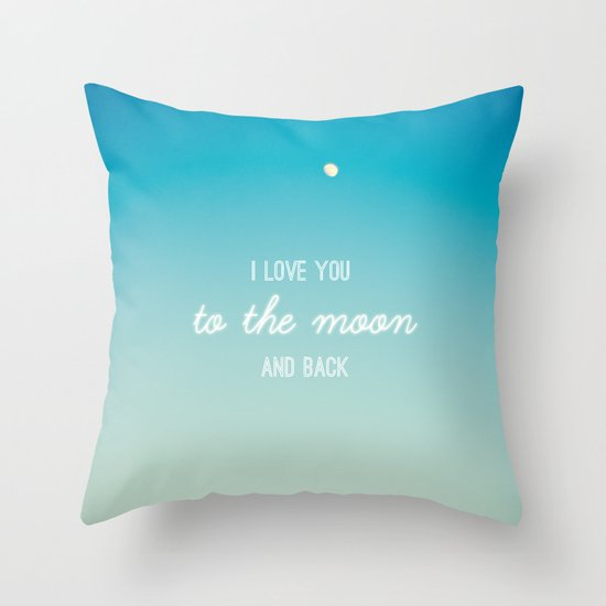 I Love You to the Moon and Back Throw Pillow by Libertad Leal Photography Society6