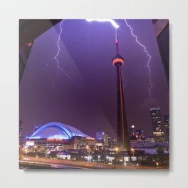 Touching Tower Tops (Square) Metal Print