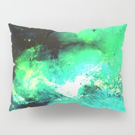 Green Nebula Pillow Sham