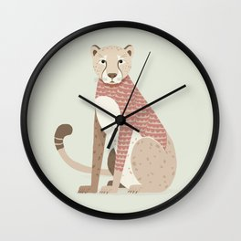 Whimsical Cheetah Wall Clock