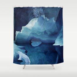 Polar Bear by night Shower Curtain