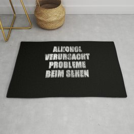 Alcohol Problems Seeing Blurred Gift  Rug