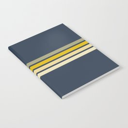 Racing Retro Stripes Notebook