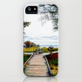 Lone Bench 1 iPhone Case