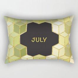 Cubes Of July Rectangular Pillow