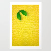 lemon Art Prints featuring Lemon by Diego Tirigall