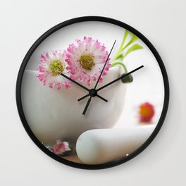 Wild herb kitchen Daisy Wall Clock
