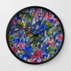 embossed floral Wall Clock
