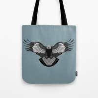 eagle Tote Bags featuring Eagle by Schwebewesen • Romina Lutz