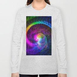 Spiral tie dye light painting Long Sleeve T-shirt