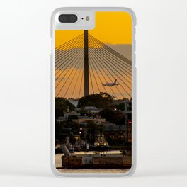 Sunset over Anzac Bridge, Sydney Clear iPhone Case