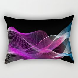 Many colored lines Rectangular Pillow