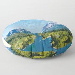 Visit the Mt. Rainier National Park Floor Pillow