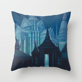 Bangkok Thailand - Siam Vintage Travel Throw Pillow