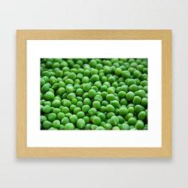 Green peas veggie pattern Framed Art Print