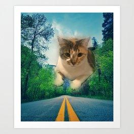 Super Kitty Art Print