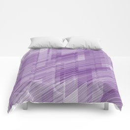 The Purple Hash - Geometric Pattern Comforters