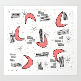Boomerangs in Pink Art Print