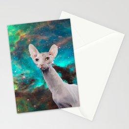 Long Neck  Cat Stationery Cards