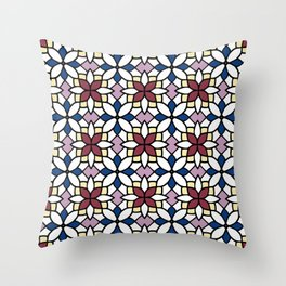 Moroccan Wine Throw Pillow