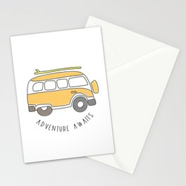 The Surf Life | Yellow Adventure Bus Stationery Cards