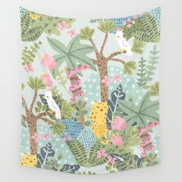 Junge flora Wall Tapestry