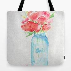 Ball Jar - Watercolor  Tote Bag