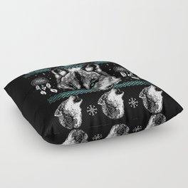 Merry Wolfmas Floor Pillow