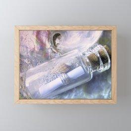 Message In A Bottle Framed Mini Art Print