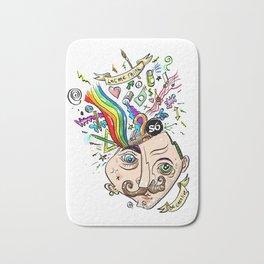 creative brain explosion Bath Mat