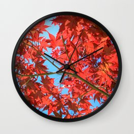 Reds of Fall - 2 Wall Clock
