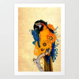 Colorful Parrot Art Print