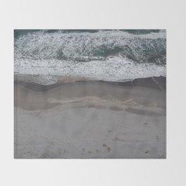 Pacific Beach Waves Throw Blanket