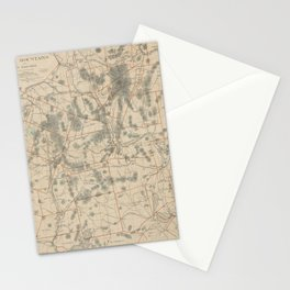 Vintage Map of The White Mountains (1896) Stationery Cards