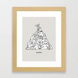 Meowtain Framed Art Print