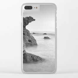 Roche Reefs At Sunset. Bw Clear iPhone Case