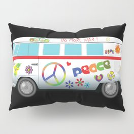 Peace and love road trip Pillow Sham
